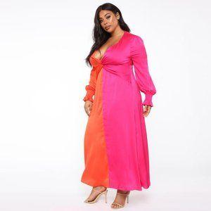 NWT Fashion Nova Colorblock Maxi Dress 2X